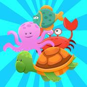 魚類動物配對遊戲免費孩子蹣跚學步 1