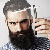 胡子样式照片蒙太奇: 最好图片编辑应用程序对于面对改头换