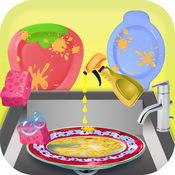 厨房脏洗碟及清洁儿童游戏 1