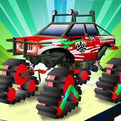 怪物卡车操作 - 3D特技赛车游戏 1