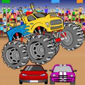 怪物卡车着色书游戏 1