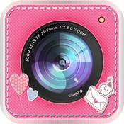 美丽的不干胶标签-照片编辑器相机加上为你 1