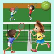 学习网球的喜悦和乐趣:许多儿童游戏 1