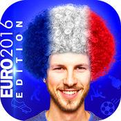 风扇 发型 剪辑 - 足球 假发 贴纸 对于 欧元 杯子 2016年