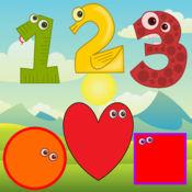 学习数字和形状| 与孩子的声音和游戏 1