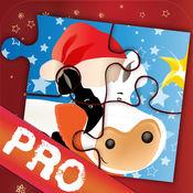 圣诞拼图   圣诞农场动物拼图 PRO 5