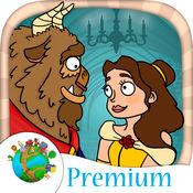 美女と野獣经典童话故事画画拼图游戏 3到9岁儿童睡前有声