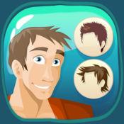 男性的美发沙龙 - 尝试不同的发型和面部毛发在你的个人理