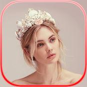 美人鱼冠照片蒙太奇 – 美发沙龙同美丽头饰品为您的图片 1