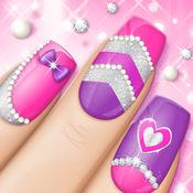 时尚指甲设计 女孩游戏: 粉红色美甲沙龙和美容室 1.2