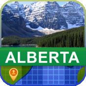 当前离线 加拿大阿尔伯塔省, 地图 - World Offline Maps 2
