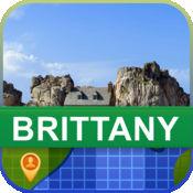 当前离线 法国布列塔尼 地图  2