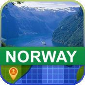 当前离线 挪威 地图  2
