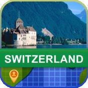 当前离线 瑞士 地图  2