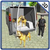 警犬转运卡车 - 驱动器小型货车和运输的狗在这个模拟器游