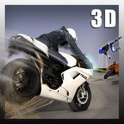快速警用摩托车骑手3D - 爬山赛车游戏 1