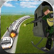 警用直升机飞行狙击手射击游戏:射击刺客与恐怖列车 1.1