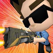 警察实验室袭击 - 3d警察射击孩子游戏 1
