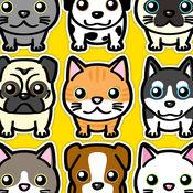 猫咪和小狗游乐园世界 - 迷你吉祥精灵萌宠动物好友的益智考反应乌托邦