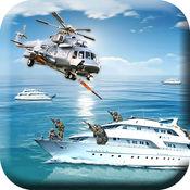 海军武装直升机直升机 - 3D战的战争游戏 1
