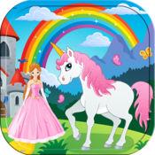 公主 填色本 女孩 对于 馬兒童 學習 油漆和顏色的 1.1.3