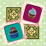 蛋糕记忆配对游戏 - 找到有趣的逻辑游戏为孩子和成人卡双