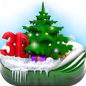 3D 圣诞 壁纸 - 冬季 背景 主题 1