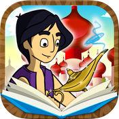 阿拉丁神灯经典童话故事+画画拼图游戏 3到9岁宝宝儿童睡前有声读物