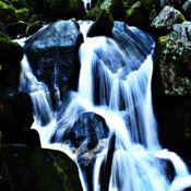 瀑布 - 打开清洁水的声音 1