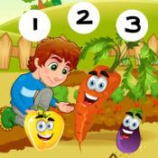123数学游戏学校儿童和婴儿:我的小花园:首要任务学习和计数