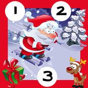 123计数圣诞动物和圣诞老人:学习数十个儿童游戏 1