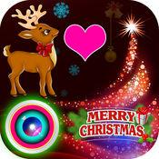 可爱 圣诞节 照片 拼贴 艺术 & 圣诞 贴纸 1