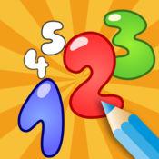 图画书 幼儿: 学习写和画 数字1到10 1