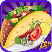 玉米饼制作厨师和墨西哥食品儿童烹饪学校