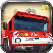 消防员卡车模拟...