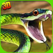 蛇攻击模拟器3D - 致命的Python模拟游戏中稀树草原森林野