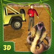 蛇捕手模拟器和野生动物吉普车驱动器 1