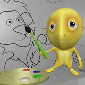 颜色上绘画 - 教育画书为孩子们 1.4