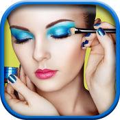 化妆 相机 - 虚拟 美女 改造 沙龙 至 得到 口红 和 眼影 1