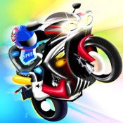 后轮平衡特技跑车 - 疯狂的摩托车赛 2