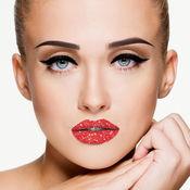 化妆品 化妆 流行的 - 改头换面 照片应用程序更改样式和 &