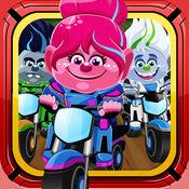 有趣的自行车赛. 怪兽摩托赛车 大挑战 游戏为孩子们 Bike
