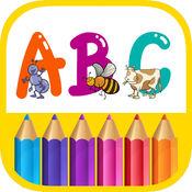 ABC着色页 - 字母和数字绘画 著色遊戲 画画涂色 游戏课 什