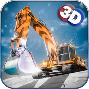 雪挖掘機3D :重型機械救援,在冬天用自卸車 1.6