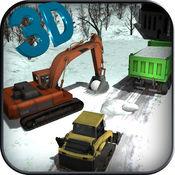 大雪挖掘机模拟器:扫雪机的真实模拟游戏和自卸卡车驾驶 2.4