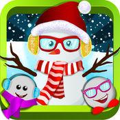 雪人装扮 - 疯狂的冬季时尚沙龙,时尚的服装精品游戏 1