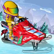 雪地车冰冷赛车 - 雪地车赛车为孩子们 1