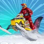雪地车特技足迹 - 雪移动特技游戏 1