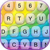 彩虹 键盘 - 现代 键盘 同 彩色 背景 和 字体 1