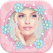 可爱 粉 照片 帧 对于 女孩 - 图片 编辑 1
